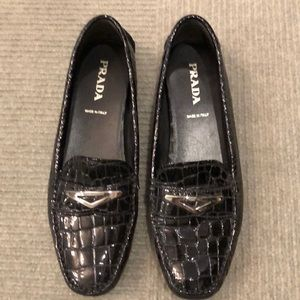 Prada black loafers Marcussen's driving shoe 38